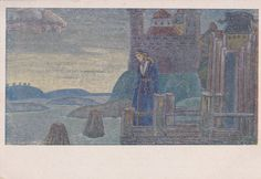N. Roerich Song of the Viking Postcard  1920 by RussianSoulVintage