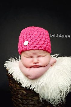 Any Color Solid Beanie w/Button Baby Newborn Crochet Hat Photo Shoot Prop Props pink blue brown triplets twins black green orange