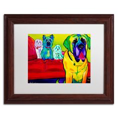 'Drooler Get the Floor' by DawgArt Framed Painting Print