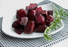 Oven Roasted Balsamic-Rosemary Beets | I also added some minced garlic