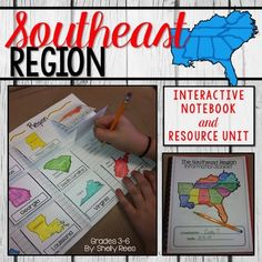 Your students will enjoy learning about the Southeast Region with this interactive packet. The hands-on approach to learning through the components of this resource will surely help your students learn and understand the Regions of the United States. This packet uses the Southeast Region as defined by the separation of the United States into 5 Regions.