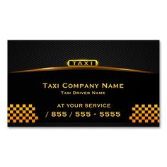 Cab Company Taxi Driver Business Card. I love this design! It is available for customization or ready to buy as is. All you need is to add your business info to this template then place the order. It will ship within 24 hours. Just click the image to make your own!