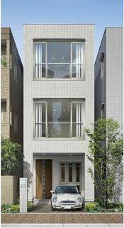 Fachadas de Casas Modernas: Fachada de casa moderna de 4 metros de frente