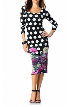 Puntíkované šaty, Rick Cardona nádherné šaty z úpletu Dresses For Work, Fashion, Moda, Fashion Styles, Fashion Illustrations