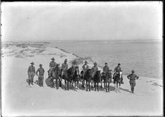 Cavalry Patrol at the Mouth of the Rio Grande, 1916.  It comes from the Robert Runyon Photograph Collection of the South Texas Border,