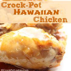 Crock-Pot Hawaiian Chicken - Super easy and kid friendly recipe!