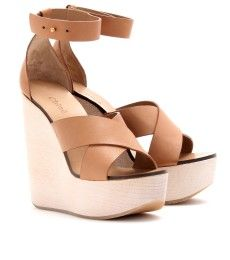 Leather Wedge Sandals by Chloé