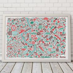 Items similar to Rome Poster on Etsy City Map Poster, World Map Poster, Poster On, Poster Prints, New York Poster, London Poster, Rome Sights, Saint Peter Square, St Peters Basilica