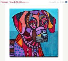 50 OFF SALE  dog tiles  dog coasters  Pop Art by HeatherGallerArt, $10.00