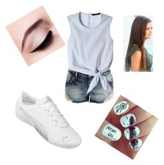 """""""Natalie"""" by ana2014 ❤ liked on Polyvore featuring mode, VILA, TIBI, Puma en Maybelline"""