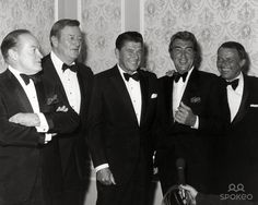 Bob Hope, John Wayne, Ronald Reagan, Dean Martin and Frnk Sinatra Photo: Nate Cutler/Globe Photos Inc