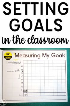 Setting goals in the classroom can be a game-changer! Students become engaged and invested in their learning as they work to achieve their personal goals.  This blog post walks through why goal setting is important for students, examples for classroom and individual goals, and worksheets and a bulletin board perfect for implementing goal setting this year in your 3rd, 4th, or 5th grade classroom. #goalsetting #studentgoals #backtoschool #bulletinboard