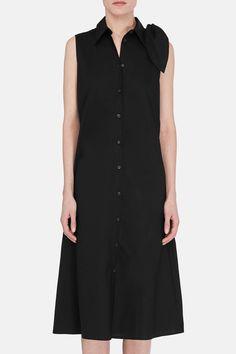 Shoulder Tie Dress - Black .MM6 Maison Margiela