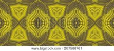 Kaleidoscopic patterns in yellow tones raster image is computer graphics and it can be used in the design of textiles in the printing industry in a variety of design projects