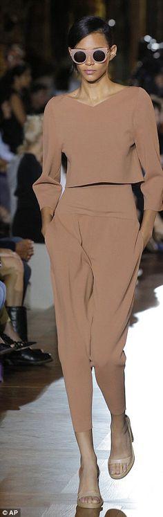 silk flow, catwalk, high waste, cool shades, fantastic shoes