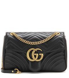 Gucci - Sac cross-body en cuir GG Marmont Medium - Confectionnée en cuir  matelassé e62fe467938