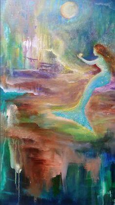 #vintage #mermaid get prints at www.fineartamerica.com