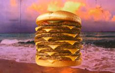 Nothing like a 10-patty cheeseburger on the beaches of freedom to honor American independence.