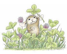 """Happy St. Patrick's Day from House-Mouse Designs. The Daily Squeek® for March 17th, 2013. Click on the image to see it on a bunch of really """"Mice"""" products."""