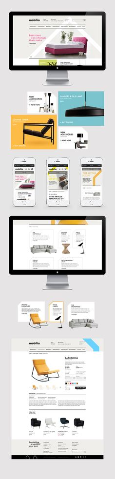Mobilia - webdesign by Vanessa Pepin, via Behance