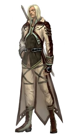 Human Male Magus - Pathfinder PFRPG DND D&D d20 fantasy