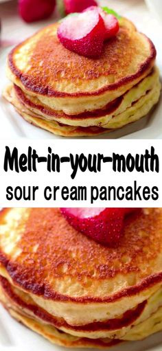 Sour Cream Pancakes (Pioneer Woman Recipe) was so easy to make he can have them anytime he wants them! Sour Cream Pancakes (Pioneer Woman Recipe) was so easy to make he can have them anytime he wants them! Pancakes Nutella, Pancakes Vegan, Sour Cream Pancakes, Ricotta Pancakes, Recipe For Pancakes, Desserts With Sour Cream, Simple Pancake Recipe, Sweet Cream Pancakes Recipe, Recipes Using Sour Cream