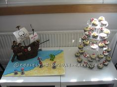 jake and the neverland pirates cakes | Jake and the Neverland Pirates Ship Cake - Coolest Birthday Cakes