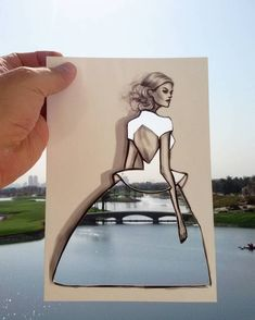 Illustrator Creates New Fashion Cut-Outs to Turn Any Landscape into Clever Clothing Designs - My Modern Met