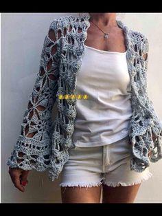 Crochet Jumper, Crochet Vest Pattern, Crochet Jacket, Cardigan Pattern, Knit Crochet, Crochet Patterns, Granny Square Crochet Pattern, Crochet Girls, Crochet Woman