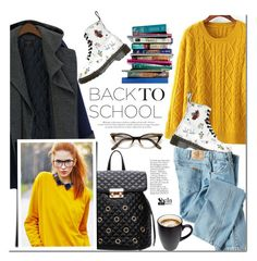 Back to school by mada-malureanu on Polyvore featuring polyvore, fashion, style, Dickies, Dr. Martens, 7 For All Mankind, clothing, BackToSchool, Sheinside and shein