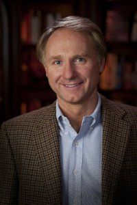 Dan Brown author of The Davinci Code