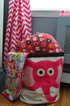 How cute is one of our Elephant Canvas Bins in this nursery? | project nursery