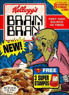 Superman Cereal Boxes by Phil Postma Superman, Cereal Killer, Retro Typography, Sources Of Fiber, Nutritious Breakfast, Estilo Retro, Breakfast Cereal, Vintage Recipes, Box Design