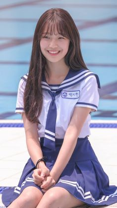 "congaixinh: ""Giống Jang my. Japanese School Uniform, School Uniform Girls, School Girl Japan, Japan Girl, Cute Asian Girls, Cute Girls, Korean Beauty, Asian Beauty, Kawai Japan"
