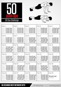 The 50 Push ups Challenge😍 30 day challenge (Fitness Challenge 30 Day) Related Day Ab Challenges' That Will Help Build Your Six Pack Like CrazyDIY Mosquito Repellent. Fitness Herausforderungen, Fitness Workouts, Physical Fitness, Ab Workouts, At Home Workouts, Fitness Tracker, Fitness Classes, Workout Exercises, Fitness Weightloss