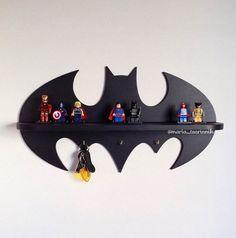 Wooden shelf Batman 177 in x 95 in 3 hooks