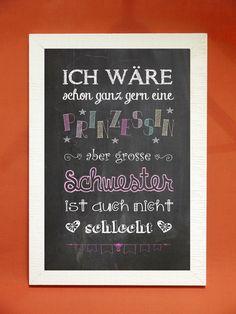 """Digitaldruck - Kunstdruck """"große Schwester"""" - ein Designerstück von Foto-Design-Digital-Art bei DaWanda"""