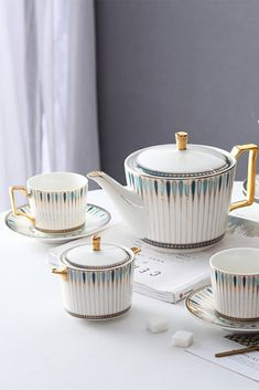 Luxury tableware sets are designed to diversify your gala dinner or turn your regular dinner into a celebration. Cups and mugs by Fourline Design will definitely bring an atmosphere of comfort to your family tea party.