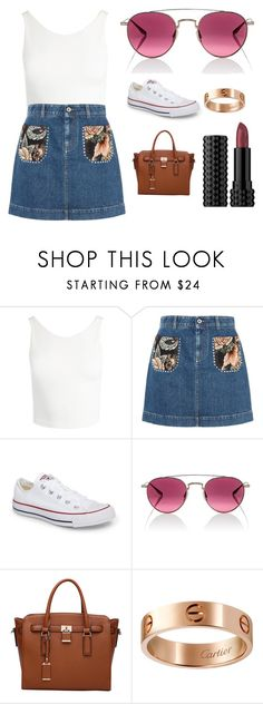 """""""Sans titre #10583"""" ❤ liked on Polyvore featuring Sans Souci, STELLA McCARTNEY, Converse, Barton Perreira, MKF Collection, Cartier and Kat Von D"""