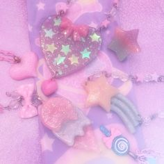 Today we'll introduce you to some of the most popular Harajuku and fairy kei brands that have opened in America! Aesthetic Pastel Wallpaper, Aesthetic Wallpapers, Blue Yellow, Purple, Pink, Empty Perfume Bottles, Rock Collection, Harajuku Fashion, Wall Collage
