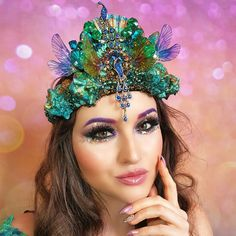 Shop for on Etsy, the place to express your creativity through the buying and selling of handmade and vintage goods. Mermaid Headpiece, Mermaid Crown, Fairy Wings, Costume Makeup, Faeries, Halloween Fun, Diy Clothes, The Dreamers, Style Me