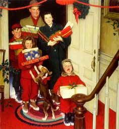 1950; illustration by Norman Rockwell