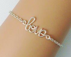 Silver Wire Love Bracelet friendship best by WireBoutique2012, $11.99