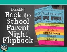 Back to School Flipbook for Parent Night