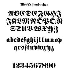 typographybooks:  Gothic and Old English Alphabets: 100 Complete Fonts (Lettering, Calligraphy, Typography). Gothic — or black-letter script — was a principal model for printer's types when printing was first invented. This impressive collection features 100 complete androyalty-free alphabets of Old English and Gothic typefaces: Blackstone, Dolbey, Germania, Caxton Initials, Munich Fraktur, and 95 more — with many lowercases, numerals, and punctuation marks. Get it ...