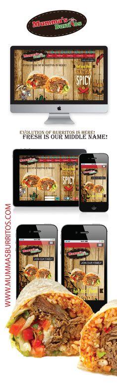 Mumma's Burritos, ON ,Canada My new website project Burritos, Spicy, Web Design, Canada, Fresh, Website, Food, Breakfast Burritos, Design Web