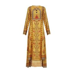 Anita Dongre presents Mustard printed floral motifs kaftan style top available only at Pernia's Pop Up Shop.