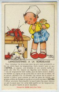 Beatrice MALLET advertising Lobster Sauce 1920 postcard