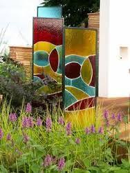 Image result for glass garden mirror gates