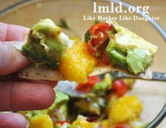 mango avocado salsa! YUM! Super quick and easy to make for party treat or shower snack  :)
